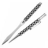 Celtic Plaid Ballpoint Pen & Letter Opener Set